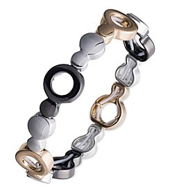 Nine West® Tri Tone Stretch Bracelet