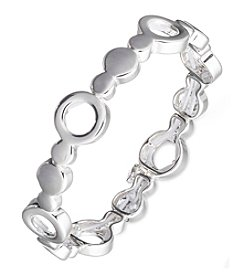 Nine West® Silvertone Stretch Bracelet