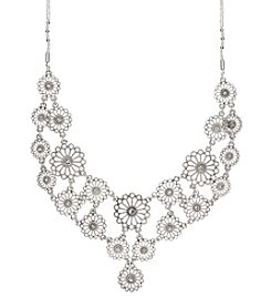 Nine West Vintage America Collection® Silvertone And Simulated Crystal Drama Necklace
