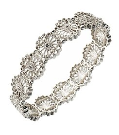 Nine West Vintage America Collection® Silvertone And Simulated Crystal Stretch Bracelet