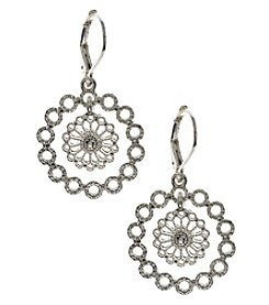 Nine West Vintage America Collection® Silvertone Orbital Drop Earrings