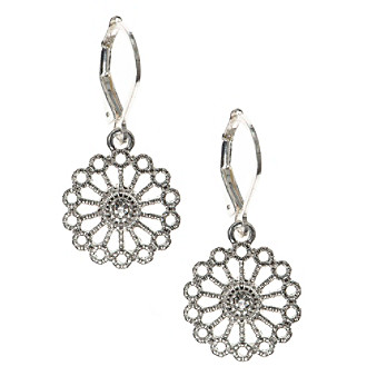 Nine West Vintage America Collection® Silvertone And Simulated Crystal Drop Earrings