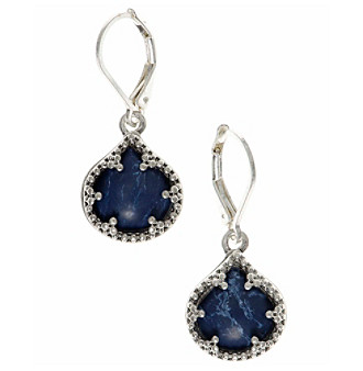 Nine West Vintage America Collection® Silvertone And Denim Drop Earrings plus size,  plus size fashion plus size appare