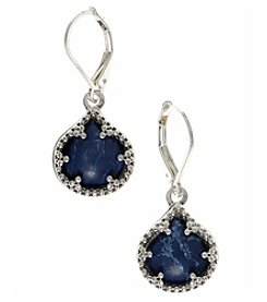 Nine West Vintage America Collection® Silvertone And Denim Drop Earrings