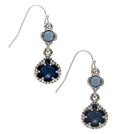 Nine West Vintage America Collection® Silvertone And Denim Double Drop Earrings