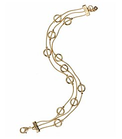 Nine West® Goldtone Illusion Flex Bracelet