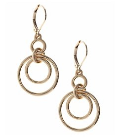 Nine West® Goldtone Orbital Earrings