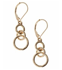 Nine West® Goldtone Small Double Drop Earrings