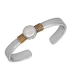 Lucky Brand® Two Tone Delicate Cultured Freshwater Pearl Cuff Bracelet