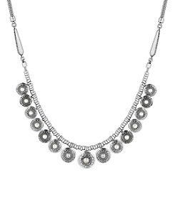 Lucky Brand® Silvertone Cultured Freshwater Pearl Collar Necklace