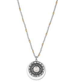 Lucky Brand® Two Tone Cultured Freshwater Pearl Pendant Necklace