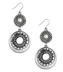 Lucky Brand® Silvertone Cultured Freshwater Pearl Bali Statement Earrings