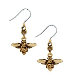 Lucky Brand® Goldtone Bee Dangle Drop Earrings