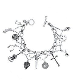 Lucky Brand® Silvertone Rock & Roll Charm Bracelet