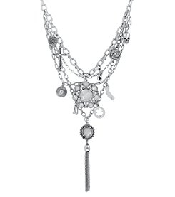 Lucky Brand® Silvertone Rock & Roll Statement Necklace