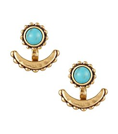 Lucky Brand® Goldtone Turquoise Ear Jackets