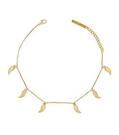 Lucky Brand® Delicate Goldtone Leaf Bracelet