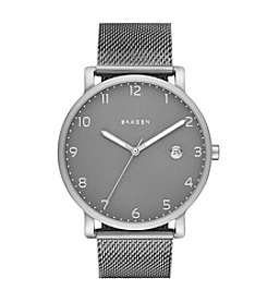 Skagen Men's Hagen Watch in Titanium with Silvertone Mesh Strap