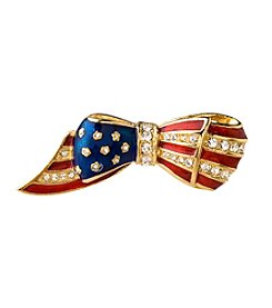 Carolee® Goldtone And Enamel Flag Pin