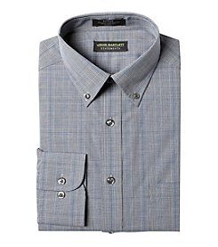 John Bartlett Statements Men's Glen Plaid Button Down Collar Long Sleeve Dress Shirt