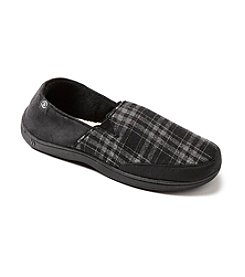 Isotoner Signature® Men's Plaid Micro Suede Slipper