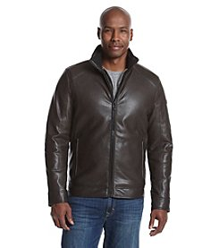 Calvin Klein® Men's Leather Smooth Layerup Coat