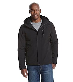 Calvin Klein Men's Laminated Softshell Hooded Jacket
