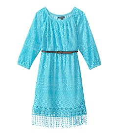Sequin Hearts® Girls' 7-16 Belted Lace Dress