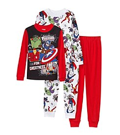 Marvel® Boys' 4-10 4-Piece Avengers Pajama Set