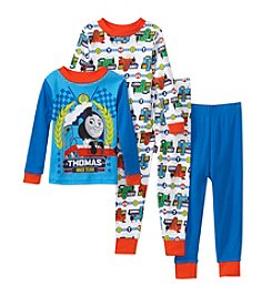 Thomas & Friends Boys' 2T-4T 4-Piece Thomas The Train Pajama Set