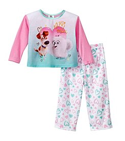 Universal® Girls' 2T-4T 2-Piece The Secret Life Of Pets™ Pajama Set