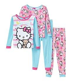 Hello Kitty Girls' 2T-4T 4-Piece Dreamtime Pajama Set