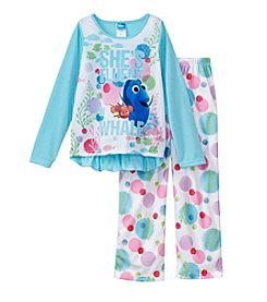 Disney® Girls' 4-10 2-Piece She's Fluent In Whale Pajama Set