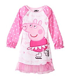 Komar Kids® Girls' 2T-4T Figure Skating Peppa Pig Nightgown