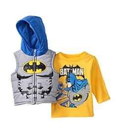 Nannette® Baby Boys 2-Piece Batman® Vest Set