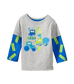 Mix & Match Baby Boys Long Sleeve Trucks Layered Skater Tee