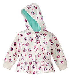 Mix & Match Baby Girls' Owl Printed Fleece Hoodie