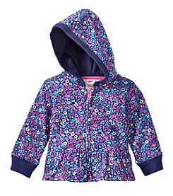 Mix & Match Baby Girls' Floral Printed Fleece Hoodie