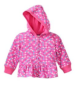 Mix & Match Baby Girls' Heart Printed Fleece Hoodie