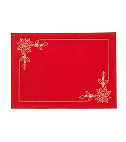 LivingQuarters Velvet Embroidered Placemat