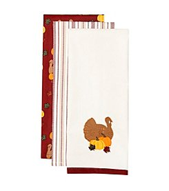 LivingQuarters 3-pk. Thanksgiving Kitchen Towel Set