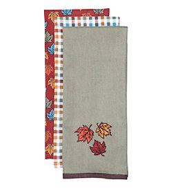 LivingQuarters 3-pk. Autumn Kitchen Towel Set