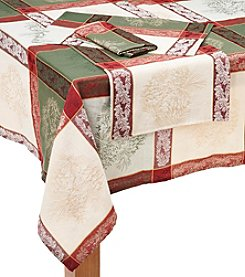 LivingQuarters Winter Forest Jacquard Table Linens