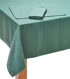 LivingQuarters Patterned Microfiber Table Linens