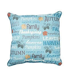 LivingQuarters Harvest Sentiment Pillow