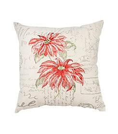 LivingQuarters Poinsettias Pillow