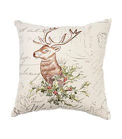 LivingQuarters Deer Head Pillow