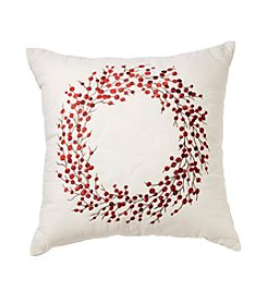 LivingQuarters Berry Wreath Pillow