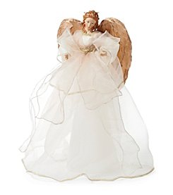 LivingQuarters Rubies and Gold Collection Ivory Angel Figurine