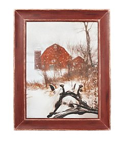 LivingQuarters Rustic Lodge Collection Red Barn Art